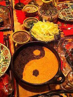 Yin Yang Huitlacoche grits