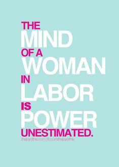 Strength in childbirth.