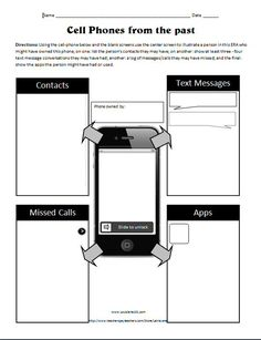 Cell phone for your book character. This is an authentic activity that students would relate to! They can do this about a character in their book.