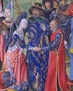 Isabella of France (9 November 1389 – 13 September 1409) was a Princess of France, daughter of King Charles VI and Isabella of Bavaria-Ingolstadt.[1] She was queen consort of Richard II, King of England, from 1396 to 1399.[2]  Isabella's younger sister, Catherine of Valois, was Queen consort of England from 1420–1422, as the wife of King Henry V of England, mother of Henry VI, King of England and grandmother of King Henry VII of England.