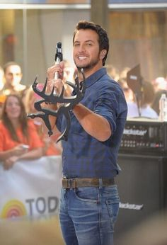 Luke and his buck commander mic stand