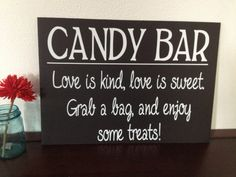 Candy Buffet Sign by IDoSignDesigns on Etsy