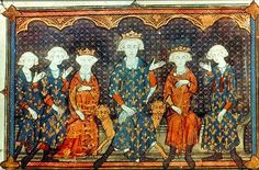 Queen Isabella with her father and brothers.