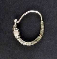 bedouin silver vintage nose ring from Syria.