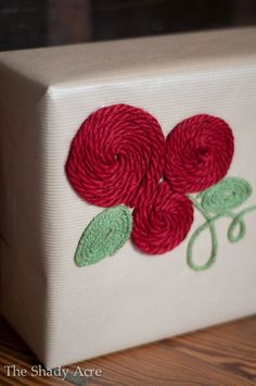 gift wrapping ideas | Inexpensive Gift Wrap Ideas Using Yarn | The Shady Acre gift wrap ideas, giftwrap, gift wrapping ideas, yarn, inexpens gift