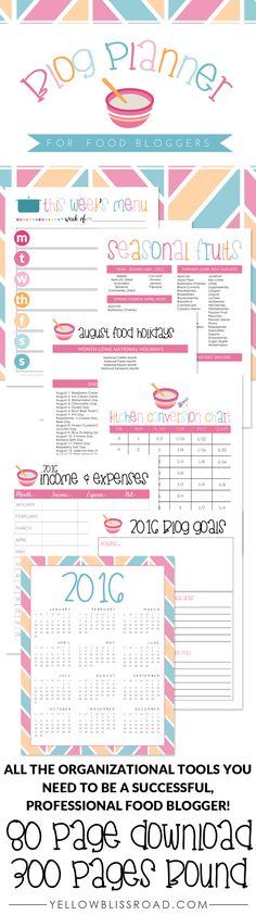 Blog Planner just fo