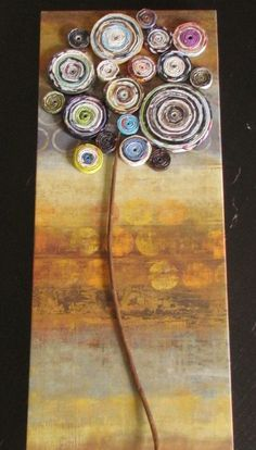 recycled craft.. magazine tree