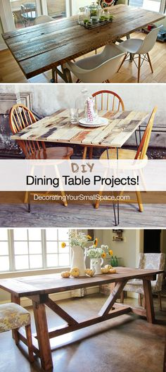 DIY Dining Table Projects! - Great Tutorials!