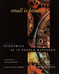 Small Is Beautiful worth read, book worth, environment book, small, impact read