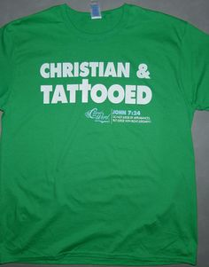 """Inspired by Bible Scripture   John 7:24-Do not judge according to appearance, but judge with righteous judgment.""""    This design is a great reminder that we should not be judging people by what's on the outside.    White & light blue Print on green t-shirt.        hand screen printed      100% cotton      pre-shrunk"""