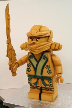 """Epic LEGO Ninjago Cake. Coming in at a height of 30"""", it is absolutely amazing. How do you eat something like that? LOL!!!"""