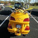 Motorcycle becomes bee Trunk or treat