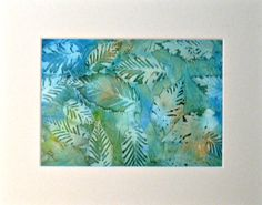 Leaves - alcohol Inks on Yupo paper. By Cindy Howe