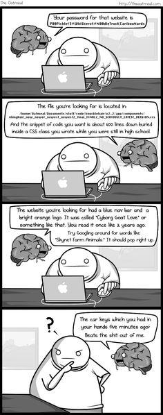 The Oatmeal comic... If my brain was an imaginary friend.. - Imgur