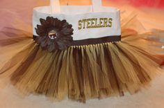 Black & Gold Pittsburgh Steelers Penguins or Pirates by bashergirl, $33.00
