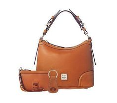 Dooney & Bourke Leather Hobo Bag with Accessories - QVC.com