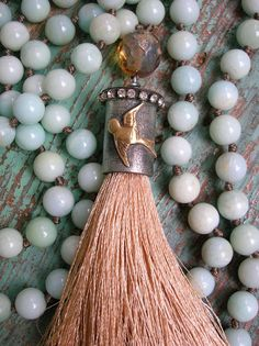 Swallow knotted necklace tassel necklace  Summer by 3DivasStudio, $129.00
