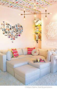 Cute idea for a photo wall!