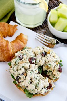 tarragon chicken salad - make with mini croissants for tea party