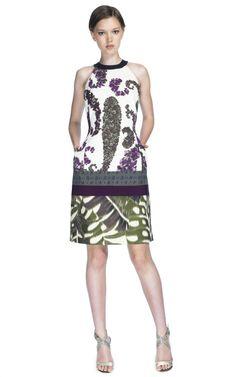 Shop Giambattista Valli Floral Combination Halterneck Dress at Moda Operandi