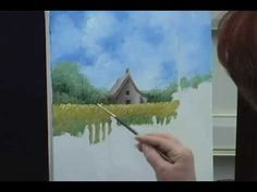 $29.95 - Cottage In a Cornfield Landscape Painting - Time Lapse Video -This is an online art class  http://store.artapprenticeonline.com/landscapes/