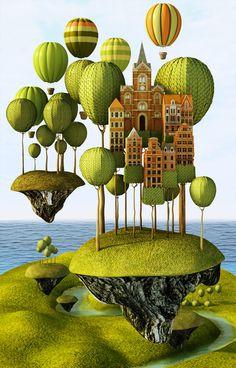 City in the Sky  by Teodoru Badiu