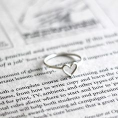 simple wire heart ring