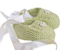 Baby girl ballerina shoes citrus green chartreuse and by Renattoni, $27.00