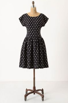Dropped Dots Dress via Anthropologie