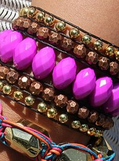 Acrylic Wide Woven Cuff Bracelet - adds a fun pop of color to any outfit this fall!   DIY jewelry   DIY fashion @joannstores