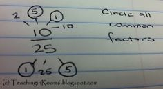 GCF reducing fractions made easier