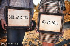 Adorable engagement picture.