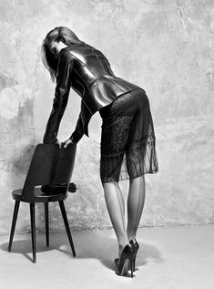 The Seduction – Swathed in a sensuous selection of leather, form-fitting silhouettes & latex ... #sexy - Grazia Italy