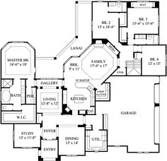 Ranch style home plan, I like but would need a bigger pantry!