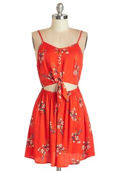 Relish the Romance Dress. As you take in the swoon-worthy moments of tonights date, you feel picturesque in the casual, cute style of this floral tank dress by Mink Pink. #red #modcloth