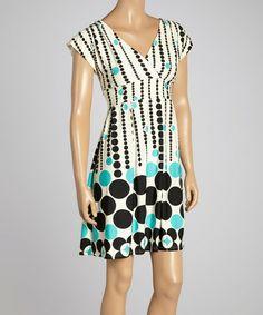 Another great find on #zulily! Green Geometric Surplice Dress #zulilyfinds
