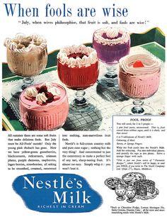 Nestle milk #pudding #vintage #ad #food #1950s