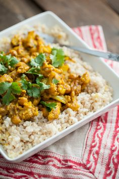 Cauliflower and Chickpea Curry | Naturally Ella