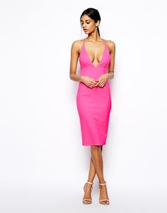 Image 4 of Oh My Love Plunge Neck Body-Conscious Dress