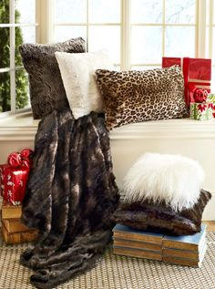 Embrace your wild side with Pier 1 Faux Fur Pillows and Throws fur pillow, faux fur, furs, pier, throw food, wild side, pillows