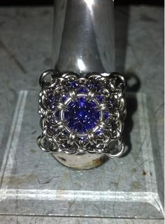 Chain Maille Rivoli Cocktail Ring