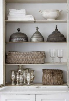 pewter + silver collections
