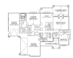 House plans on pinterest house plans traditional house for Empty nester house plans with basement