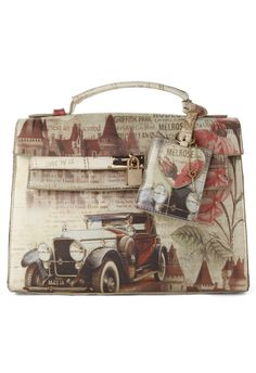 Retro Painted Bag ~