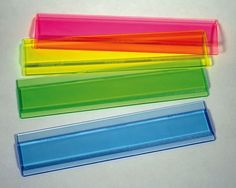 This product is great for students who have trouble focusing or lose their place as they read books, assignment etc. Eye lighters come in a variety of colors such as blue, green, pink, or yellow and are transparent so the student can see the material they want to read. The student simply places the colored ruler over the sentence or sentences they are trying to read and they can easily follow along without losing their place
