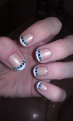 Beachy Colored French Manicure
