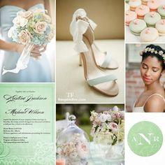 Spring Wedding Featuring Grayed Jade #wedding #grayedjade #spring #pastel