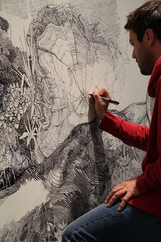 2011 : sean sullivan amazing art drawn with words...I saw this at Crystal Bridges Museum!