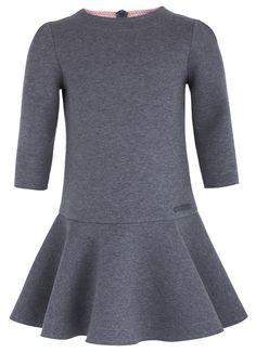 Fendi Grey Neoprene & Pink Logo Dress | AlexandAlexa