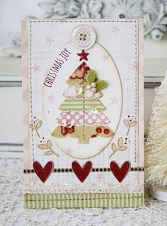 Christmas Joy Card by Melissa Phillips for Papertrey Ink (October 2013)